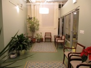 A welcoming and serene reception room in a Therapy practice.