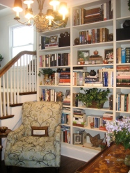 Perfect reading nook - makes the hall into a library!
