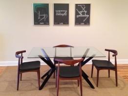 Midcentury modern dining.